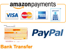 Amazon Payments , PayPal , Bank Transfer